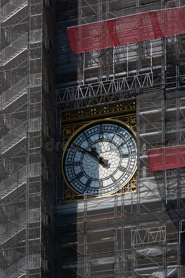 LONDON - Juni 25, 2018: Klockaframsida av berömt stort arkivbilder