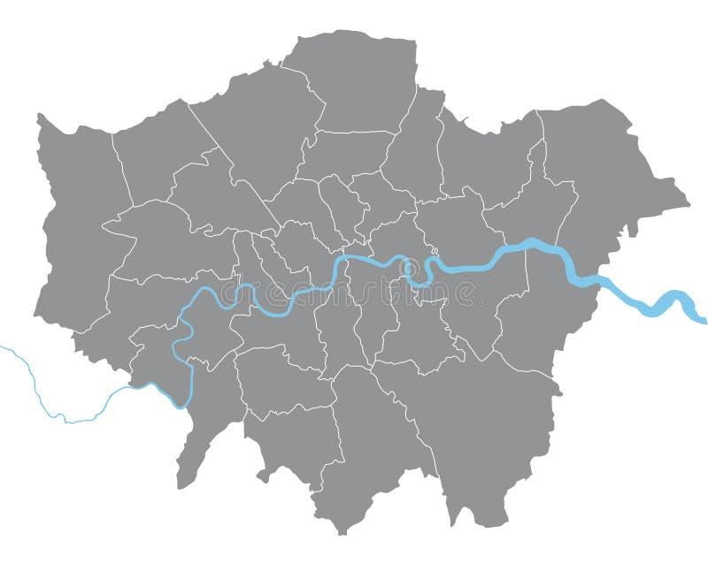 London-Karte stock abbildung