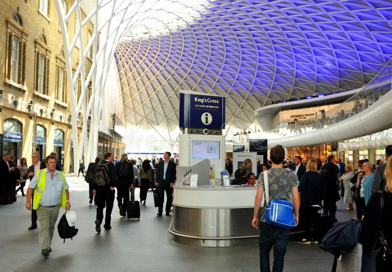London King's Cross train station stock image