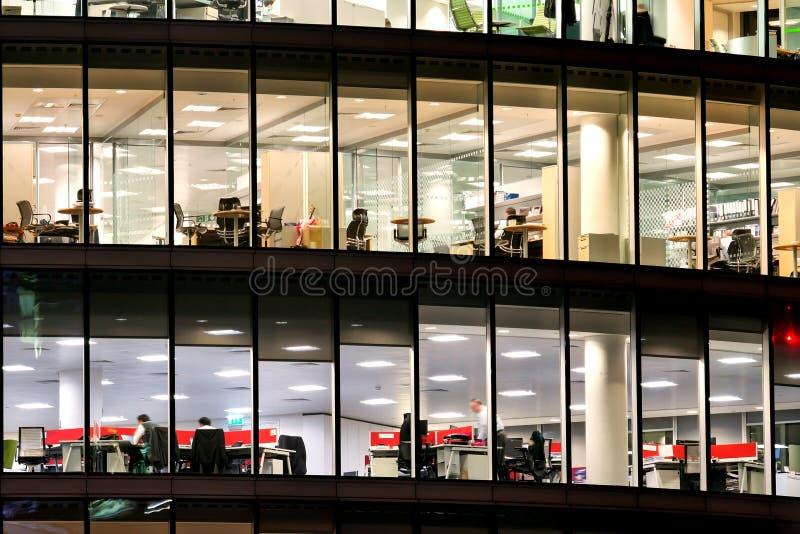 London kontorsbyggnadskyskrapa, arbete & möte royaltyfri bild
