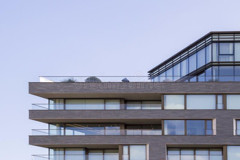 London lägenhet och kontorsbyggnader London England, UK, September 1, 2018 royaltyfri foto