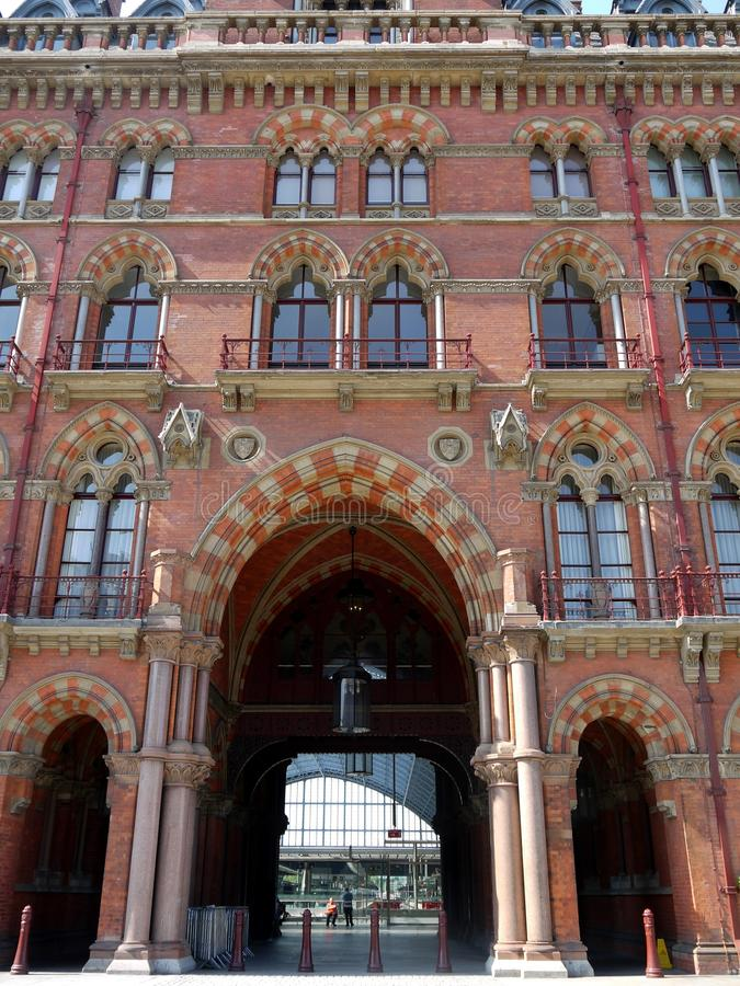 London landmarks: St Pancras station royalty free stock images
