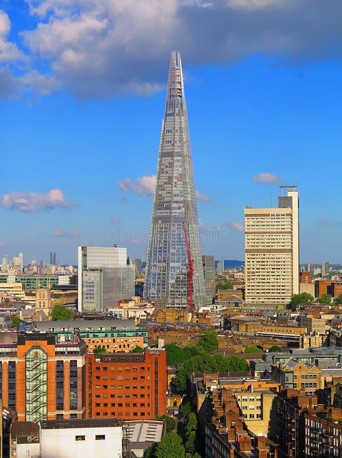 London landscape, London city, London landscape, shard. City of London. Shard, London stock image
