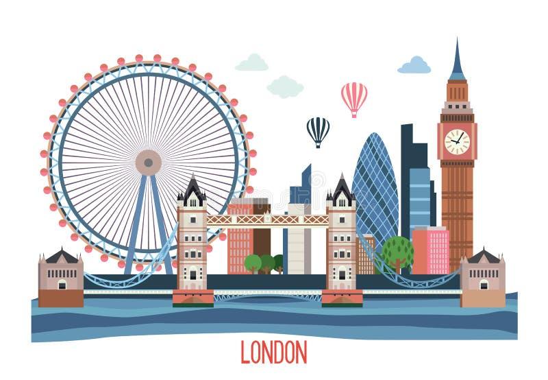 London landskap vektor illustrationer