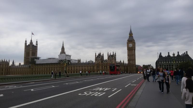 London - lights - big ben royalty free stock photo