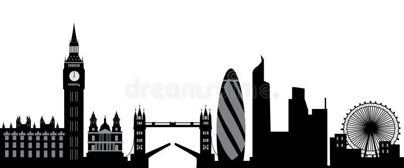 london linia horyzontu royalty ilustracja