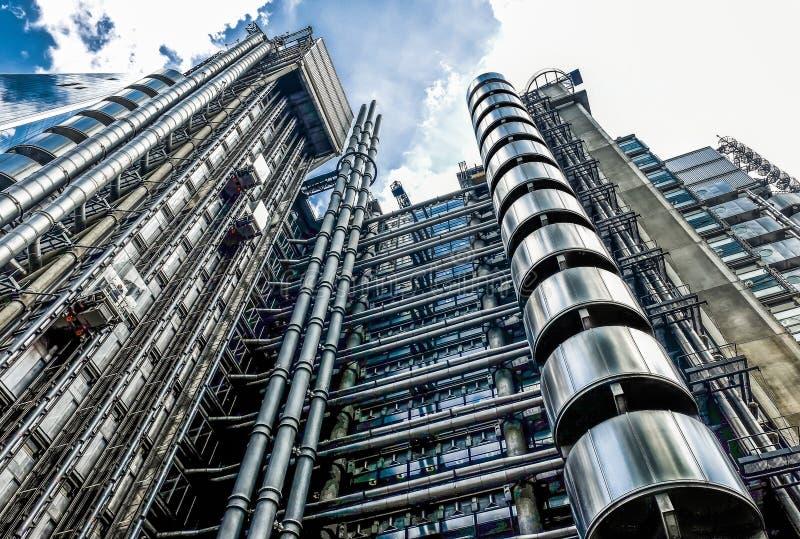 London- Lloyds byggnad fotografering för bildbyråer