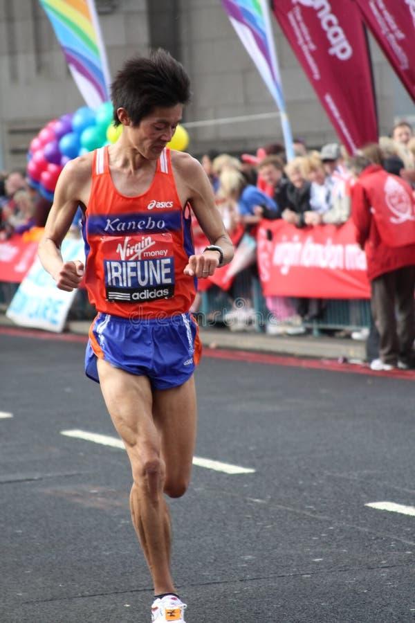 London-Marathon 2010. stockbilder