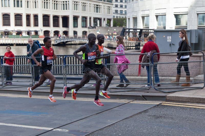 Download London Marathon 2012 - Kipsang, Lilesa, Kirui Editorial Photo - Image: 24452716