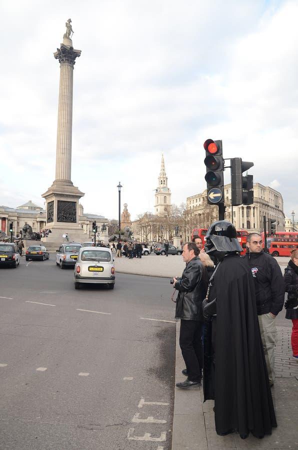 Darth Vader  Londons Trafalgar Square Area 14th March 2013 Editorial Photo