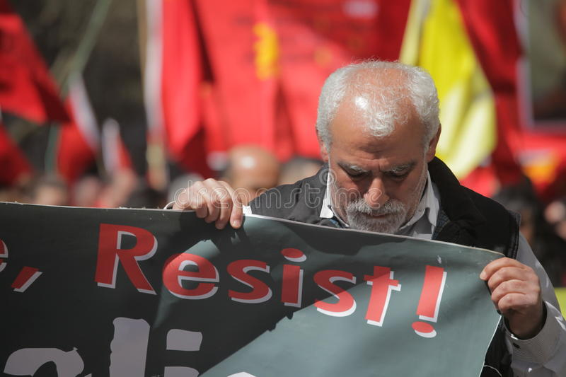 Download London May Day activist editorial image. Image of banner - 30734695