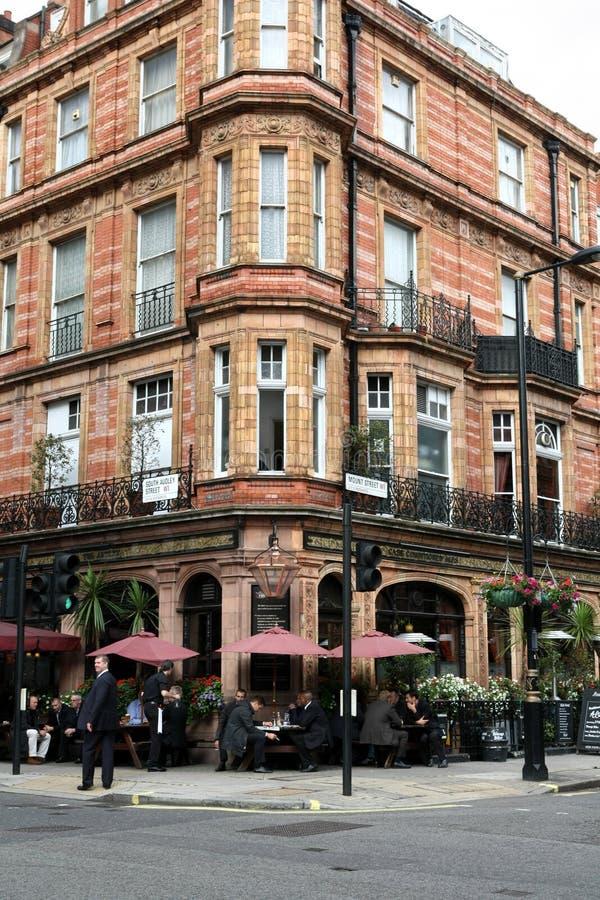 london mayfairrestaurang arkivfoto