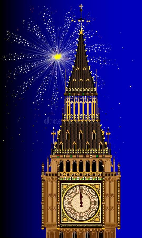 London Mew Years Eve stock illustration