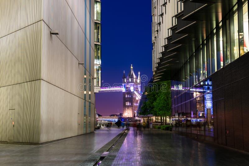 London miasta w nocy obraz royalty free