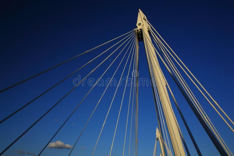 London Millennium Bridge. London Millennium Foot Bridge over the River Thames stock photos