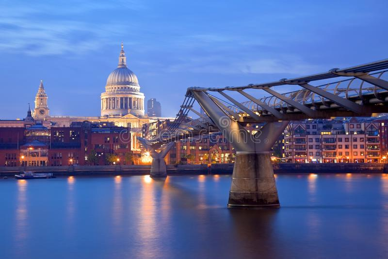 London Millennium bridge and St Paul Cathedral