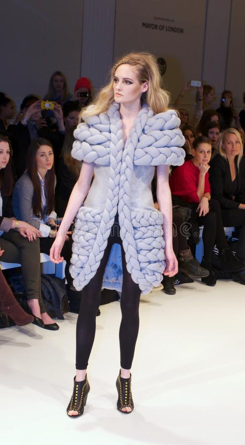 London-Mode-Woche 2013 lizenzfreies stockfoto
