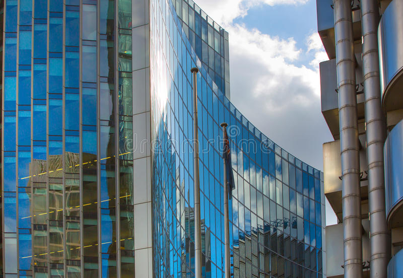 Download LONDON Modern English Architecture Glass Texture With Sky Reflection City Of London