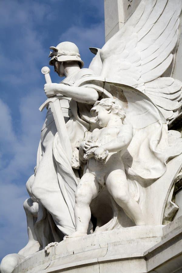 london monument victoria royaltyfri foto