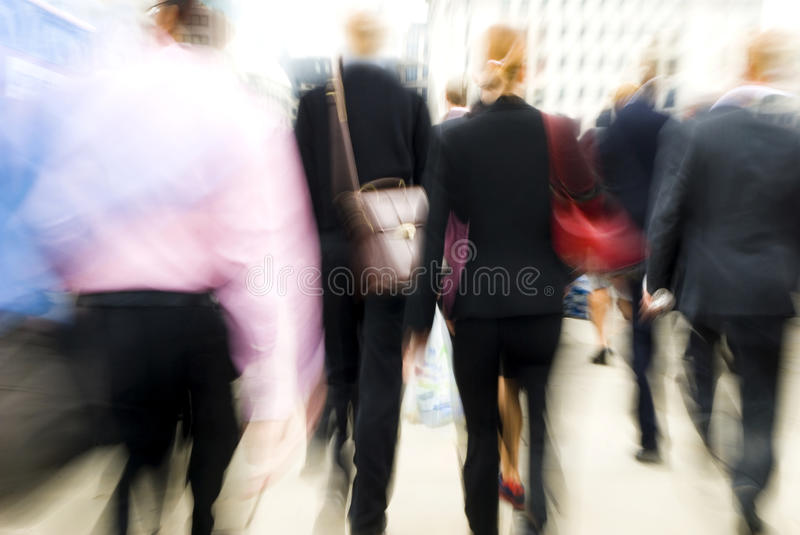 London Morning Commuters On Their Way To Workplace stock photo