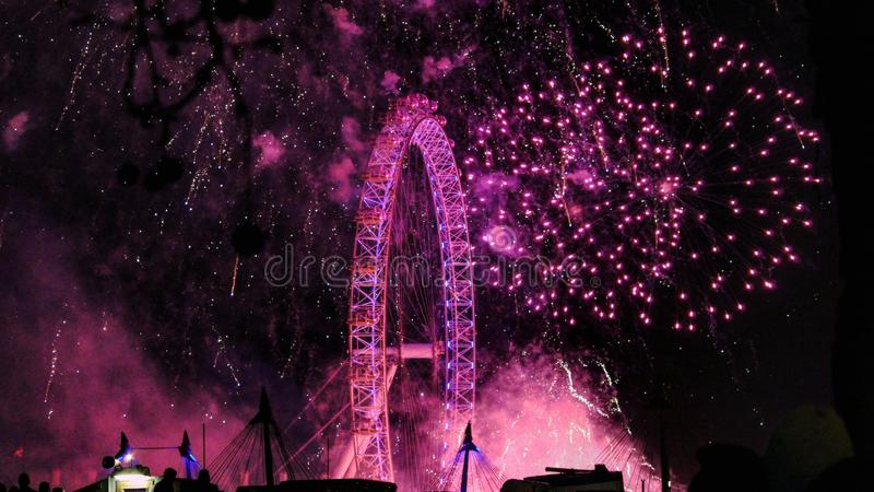 London New Years 2018 royalty free stock image