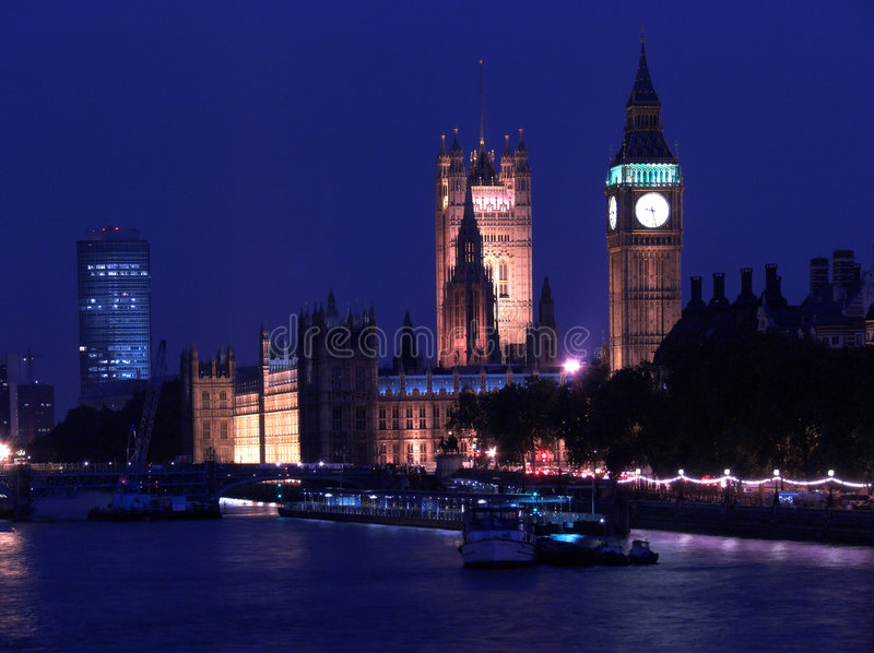 London by night royalty free stock photos