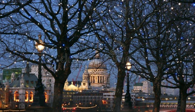 London at night stock photos