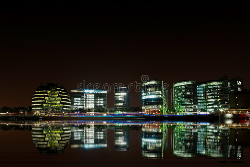London By Night Royalty Free Stock Photo