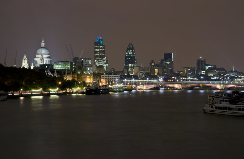 Download London by night stock photo. Image of landmark, church - 3564960