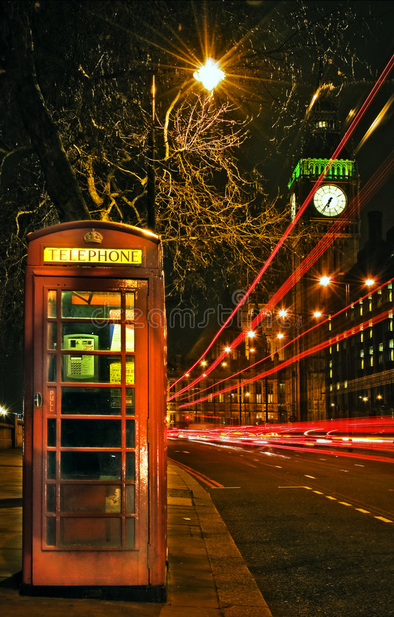London Night Scene Stock Image