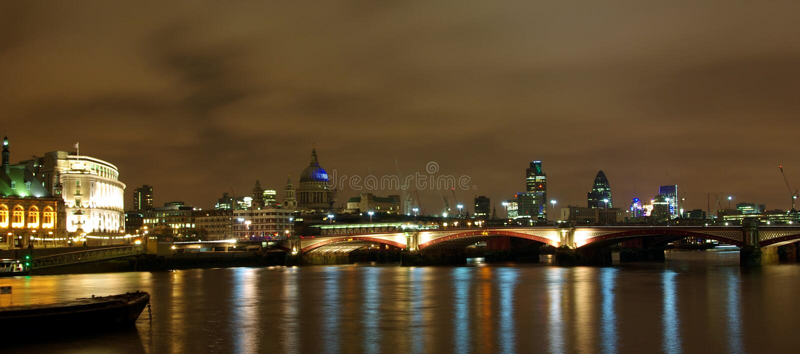 London Night Thames View Στοκ Εικόνα