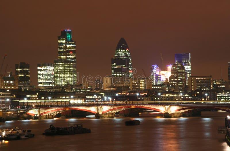 london noc fotografia stock
