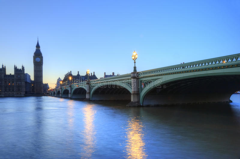 london noc parlamentu linia horyzontu fotografia stock
