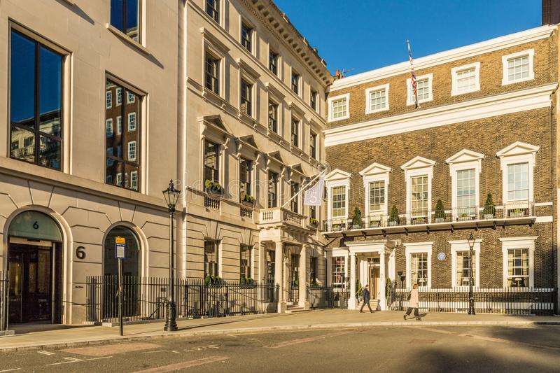 A typical view in London. London. November 2018. A view of the in and out naval and military club in London stock photo