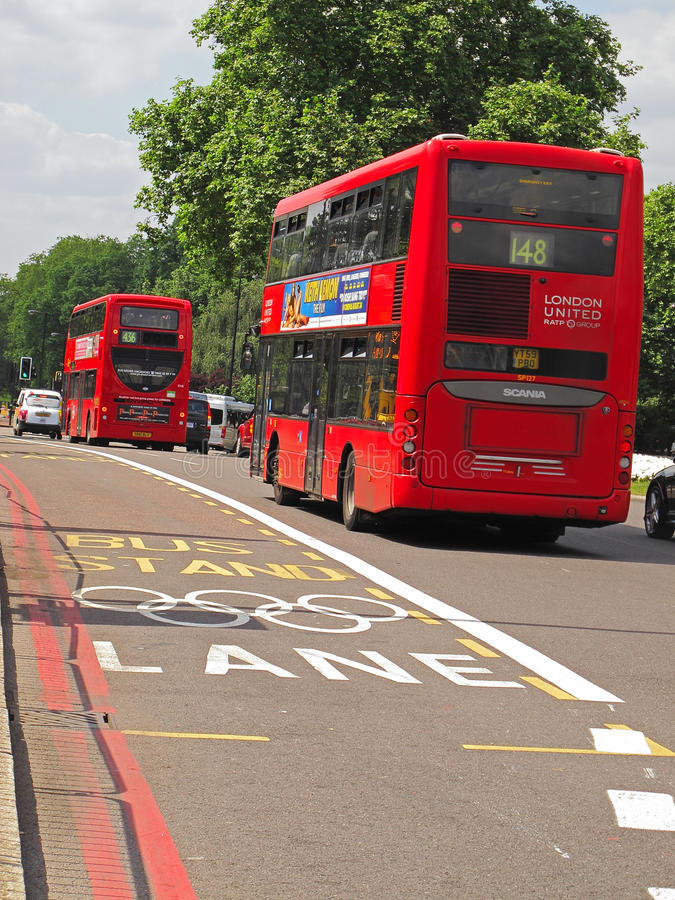 Download London Olympic Lane editorial photo. Image of fast, restriction - 34047171