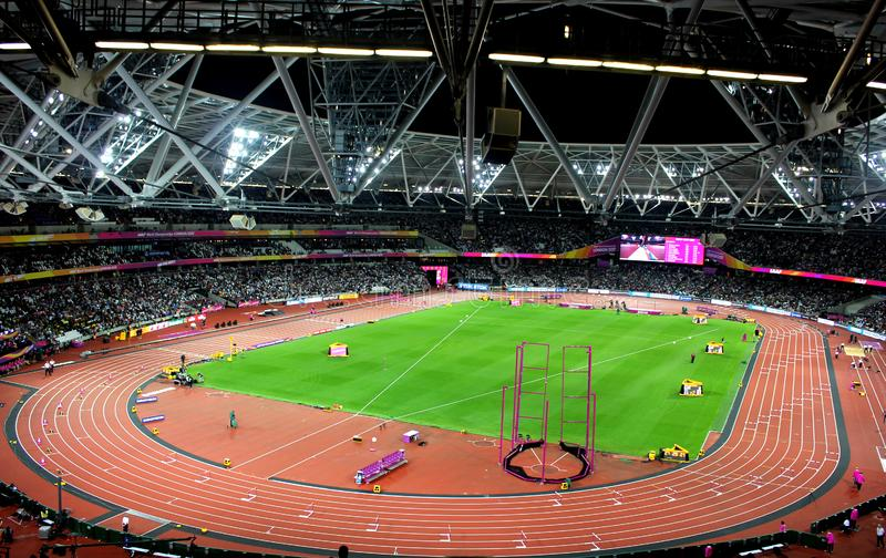 london olympic stadion royaltyfria foton