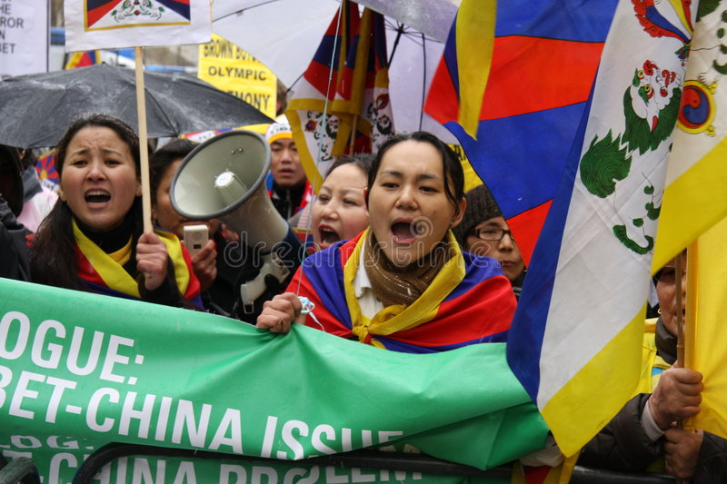 Download London Olympic Torch Parade; Free Tibet 2! Editorial Stock Image - Image: 4813279