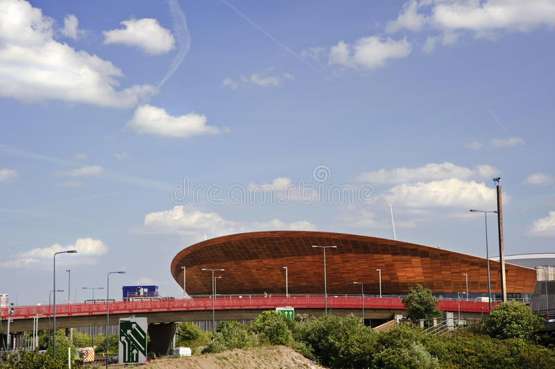 London Olympics 2012 velodrome is completed. LONDON - MAY 24 2011; London's Olympic velodrome stadium in Stratford East London is completed three months ahead of stock photo