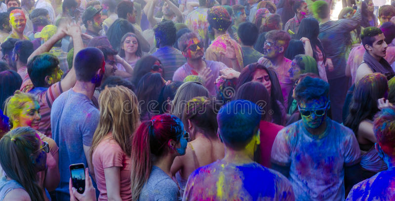 London Ontario, Canada - April 16: Unidentified youg colorful p stock images