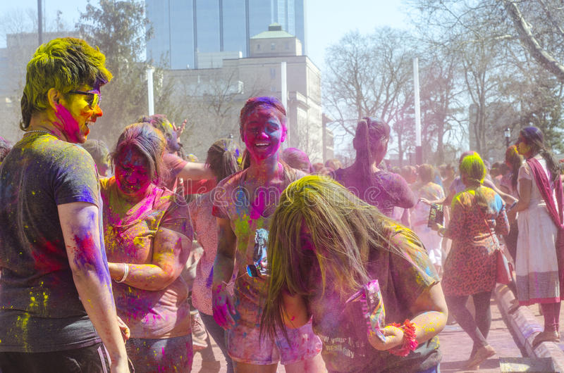 London Ontario, Canada - April 16: Unidentified young colorful p stock photo
