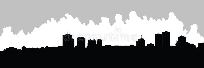 London, Ontario Skyline. Skyline silhouette of the city of London, Ontario, Canada vector illustration