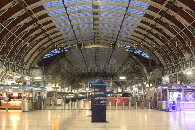 London Paddington drevstation royaltyfri fotografi