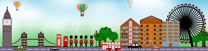 London panoramic. London theme icon concept illustration isolated stock illustration