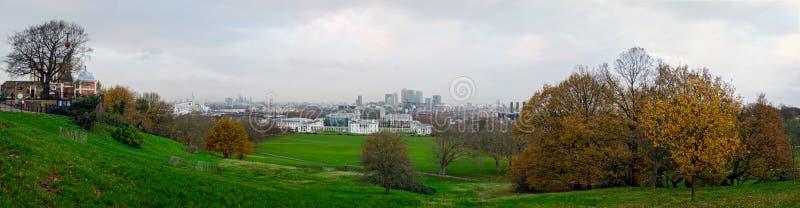 London, panoramische Skyline von Greenwich lizenzfreie stockbilder