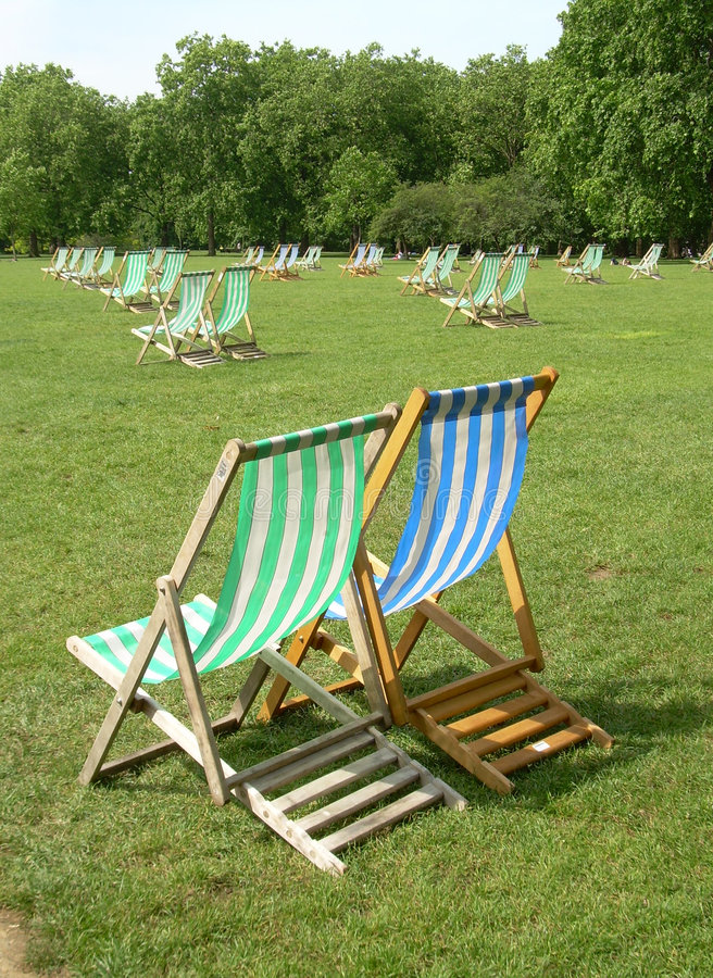 London park on summer stock image