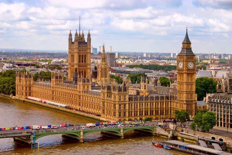 London parlament arkivbilder