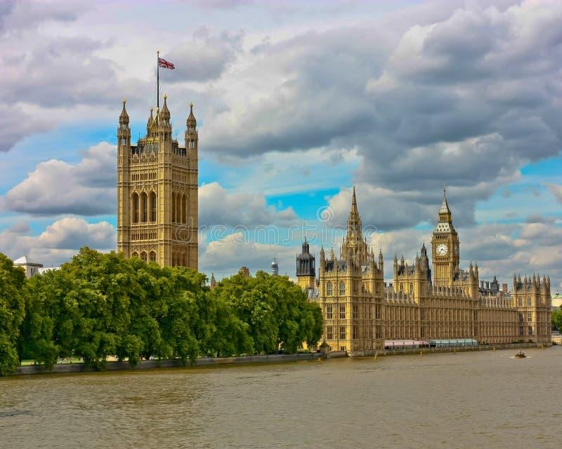 London-Parlaments-Gebäude lizenzfreies stockbild