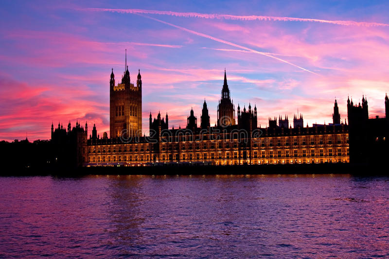 London. Parliament building. Famous Parliament building in London, UK royalty free stock image