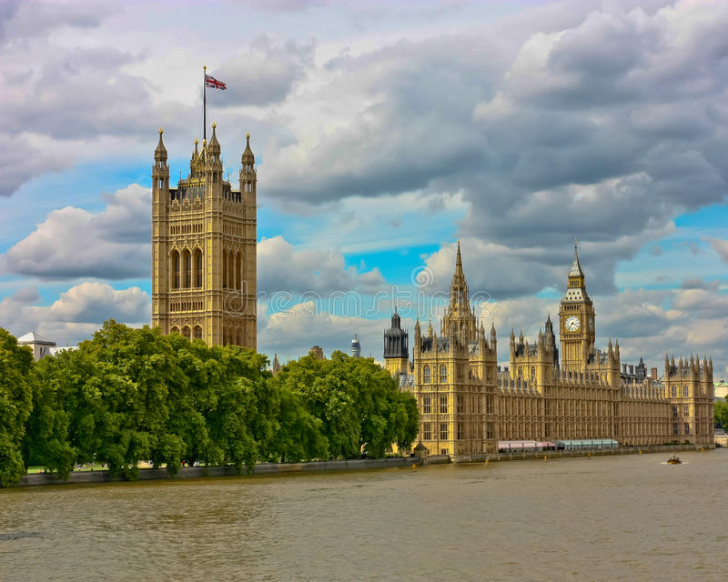London Parliament Buildings royalty free stock image