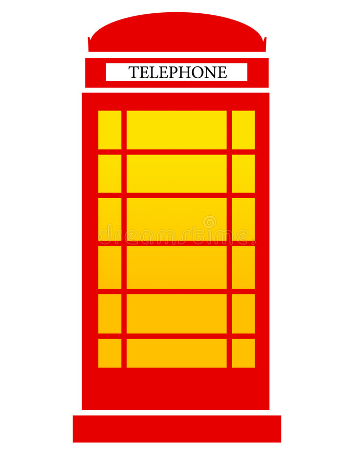 London phone. Isolated classic red london phone royalty free illustration